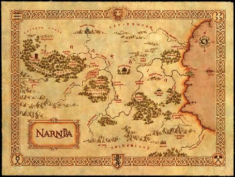 纳尼亚传奇:纳尼亚地图