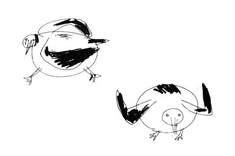 美岛莉画的胖海鸥