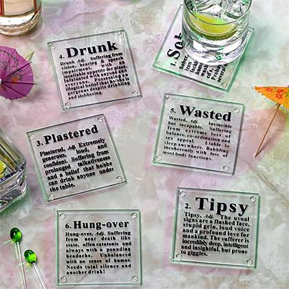 关于醉酒的杯垫
