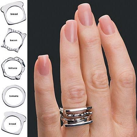 银汉堡戒指