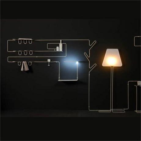 造型线搁架和灯具