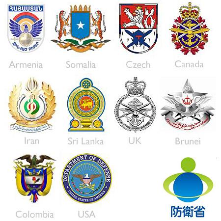 各国国防部标志